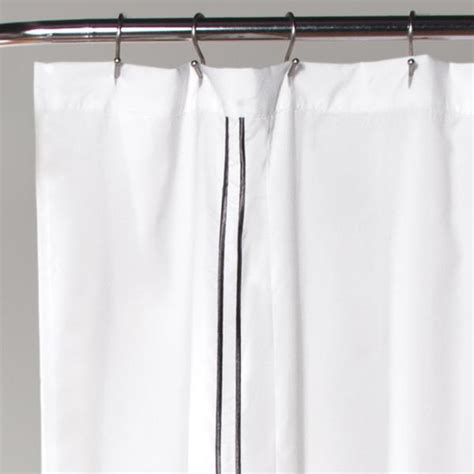 Hotel Collection Shower Curtain Whitegray
