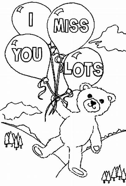 Miss Coloring Pages Lots Bear Teddy Printable