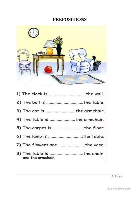 preposition worksheet worksheet  esl printable