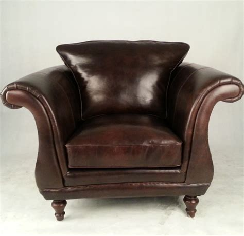 single seater retro vintage leather sofa armchair buy
