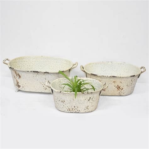 wholesale set   shabby chic metal planter flower pot buy metal planter planter flower pot
