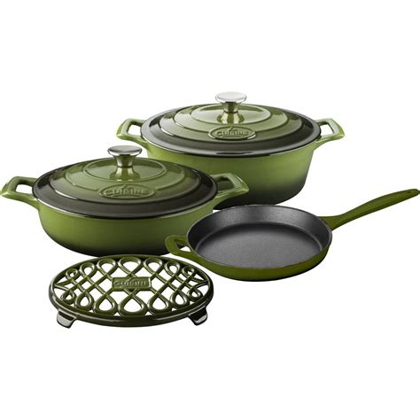 lave cuisine pro la cuisine pro 6pc enameled cast iron cookware set in