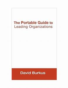 Pdf  The Portable Guide To Leading Organizations A Brief