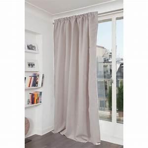 Rideau Avec Ruflette : rideau occultant phonique phonique gris clair x ~ Premium-room.com Idées de Décoration