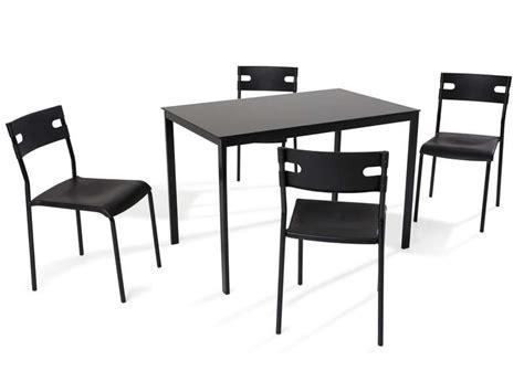 chaises de cuisine chez but ensemble table 4 chaises de cuisine coloris noir
