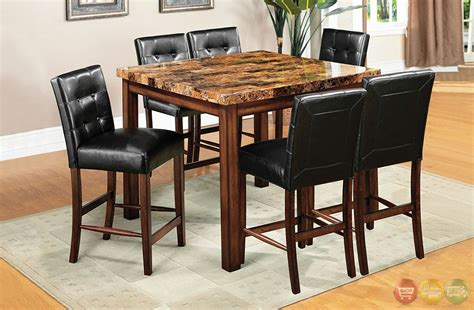 rockford ii transitional oak counter height dining