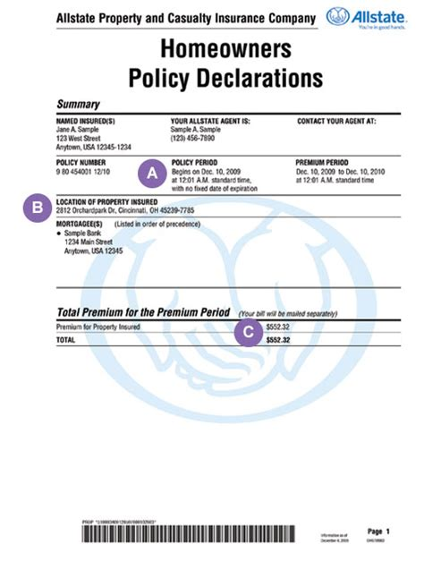 Policy Declarations — Homeowners Insurance Made Simple ...