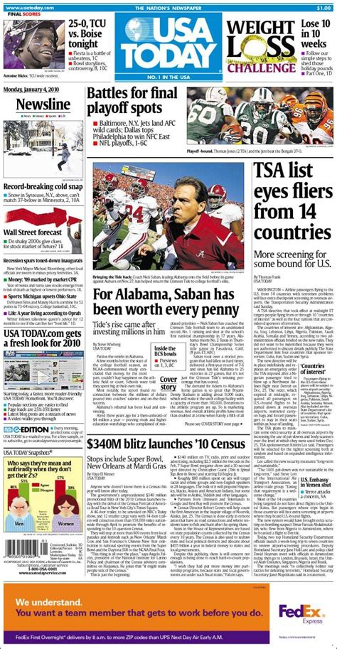 Newspaper Usa Newspaper Usa Today Usa Newspapers In Usa Monday S