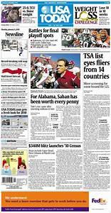 Newspaper USA Today (USA). Newspapers in USA. Monday's ...