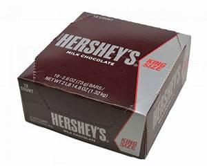 Hershey's Milk Chocolate King Size Bar - 18 / Box - Candy ...