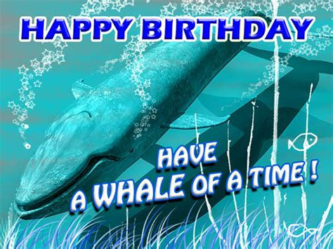 whale   birthday   kids ecards greeting cards