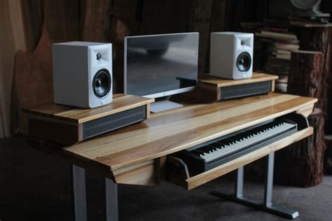 used studio desk for sale midsize modern wood recording studio desk for composer