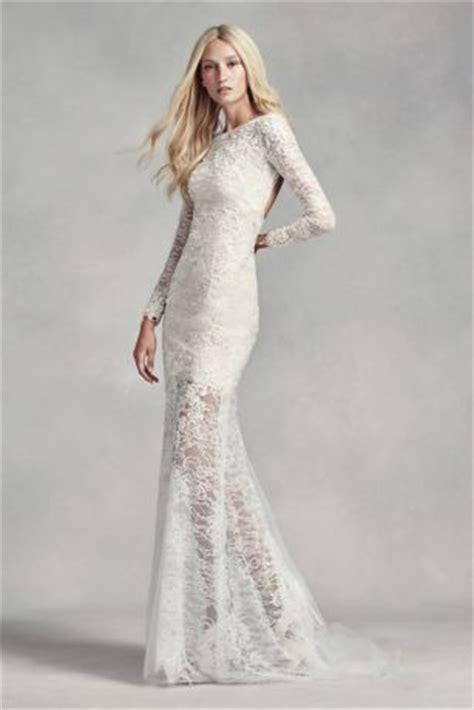 White by Vera Wang Lace and Beads Wedding Dress | David's ...