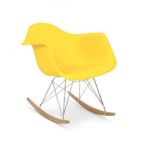 fauteuil type charles eames rar jaune discount design