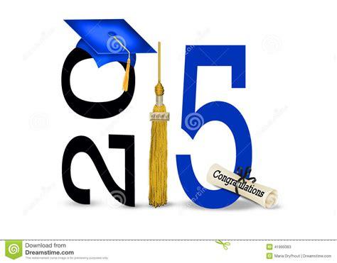 Blue Graduation Cap For 2015 Stock Illustration Image