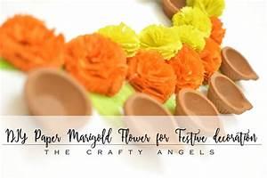 DIY Paper Marigold flowers for Festive decoration