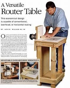 Horizontal Router Table Plans • WoodArchivist