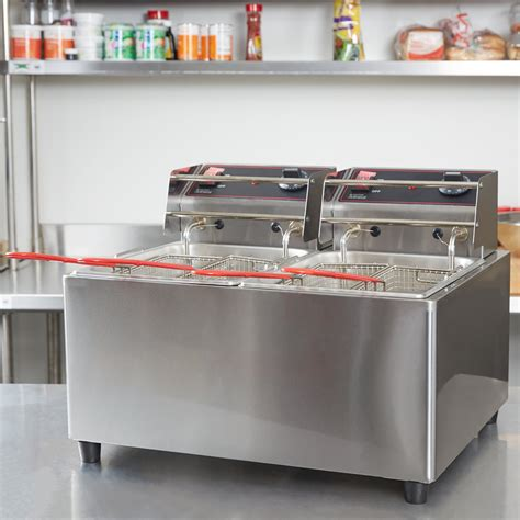 Countertop Fryers by Cecilware El2x25 Stainless Steel Electric Commercial