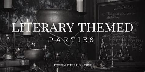 literature themed parties  literature
