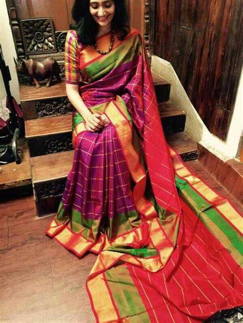 uppada special checks saree buy uppda special checks saree city fashions
