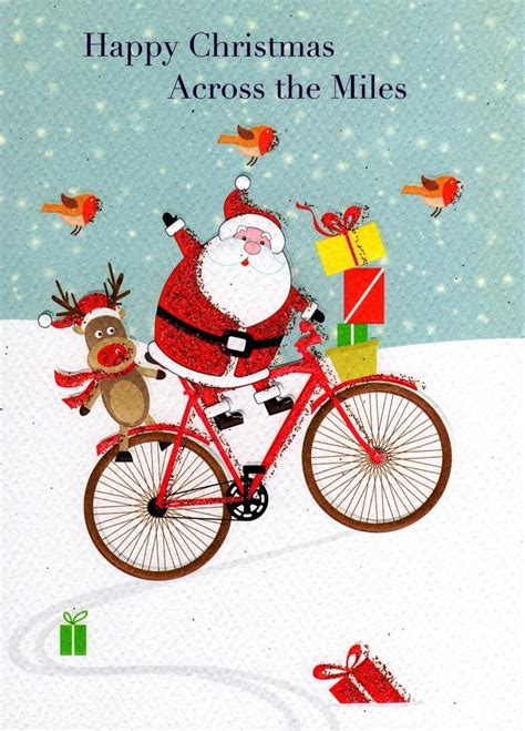 happy christmas   miles xmas card cards