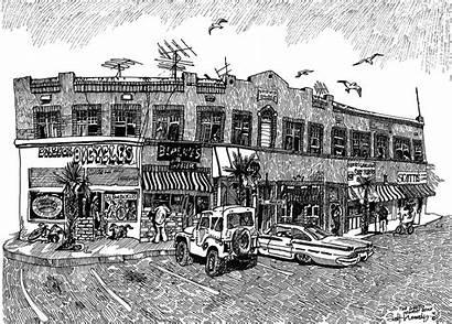 Ghetto Newport Drawing Beach Kennedy Scott