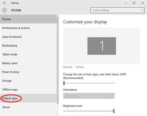 set or change default browser or program in windows 10