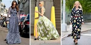 porter la robe longue 20 looks qui nous inspirent With affiche chambre bébé avec jupe femme fleurie