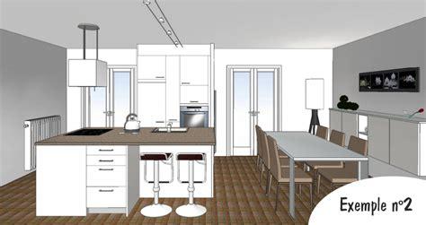 plan 3d cuisine exemple de cuisine cuisine exemple de cuisine avec ilot central avec jaune couleur exemple de