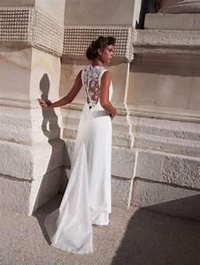 Une ligne tres aristocratique tendance princesse chic for Robe de mariée dentelle dos