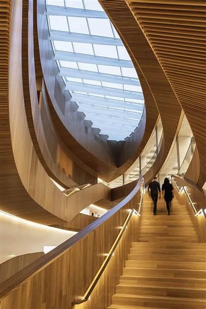 Library Calgary Central Dialog Interior Snohetta Timber