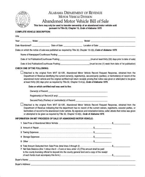 trailer bill  sale form   documents  word