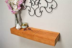 Floating Shelf With Hidden Storage