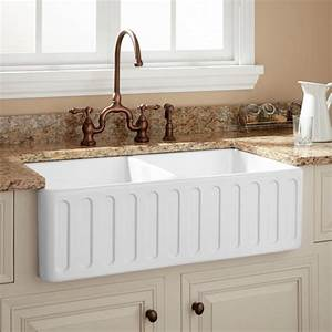 33quot northing double bowl fireclay farmhouse sink white With 33 in farmhouse sink white