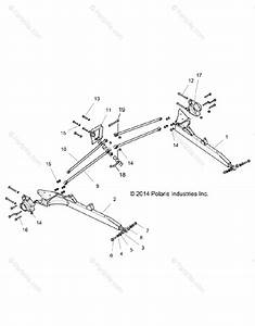 Polaris Side By Side 2016 Oem Parts Diagram For Suspension  Rear Control Arms