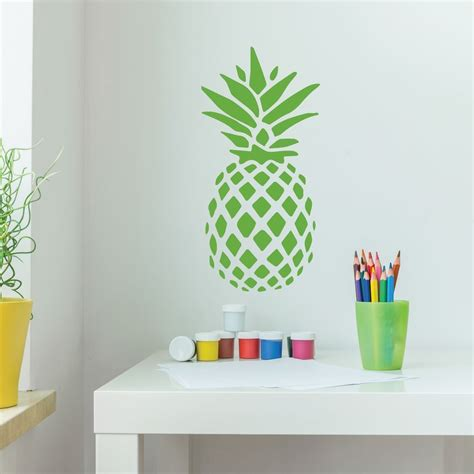 pineapple kitchen accessories pineapple decor vinyl wall decal with hawaiian pineapple 1495