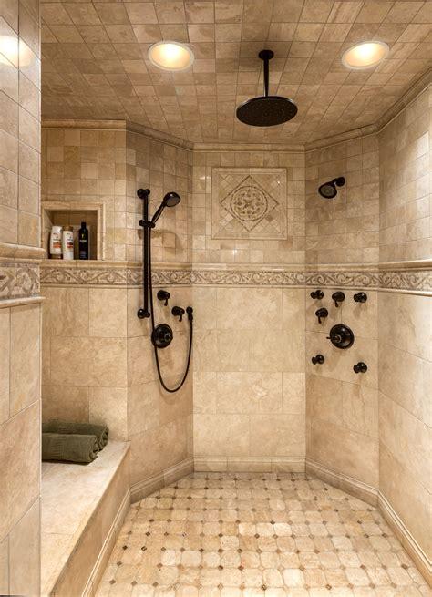 master custom tile shower summit   bathroom