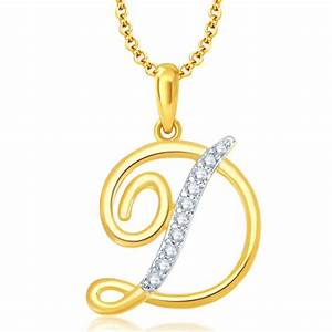 buy letter d gold and rhodium plated cz alphabet pendant With letter pendant designs