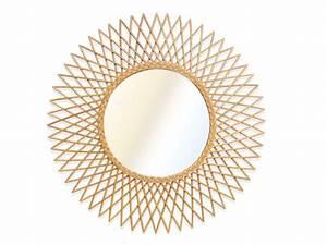 Ikea Miroir Rond : miroir mural rond soleil calamus en rotin cm ~ Teatrodelosmanantiales.com Idées de Décoration