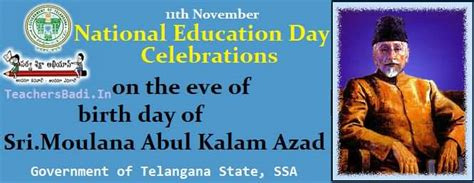 national education day   november university