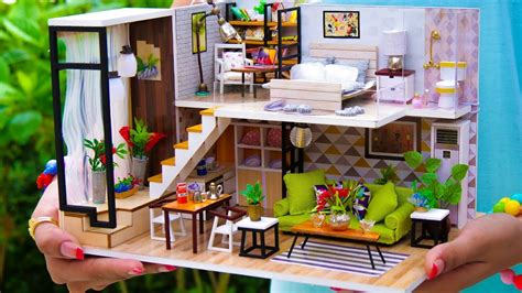 5 Diy Miniature Doll House Rooms #2 Youtube