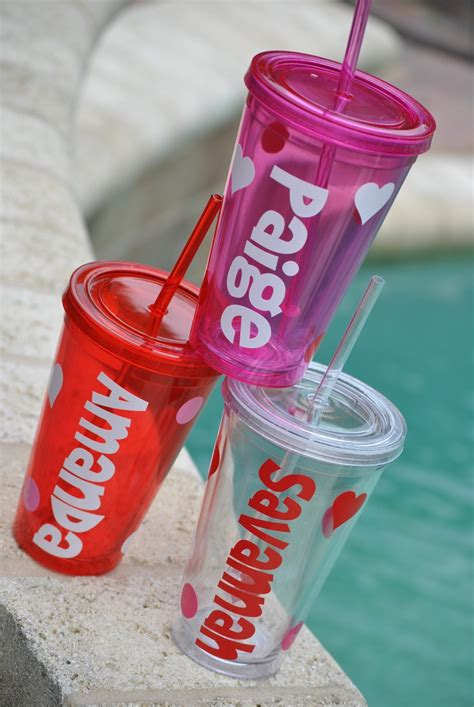 valentines day  everyday personalized tumblers