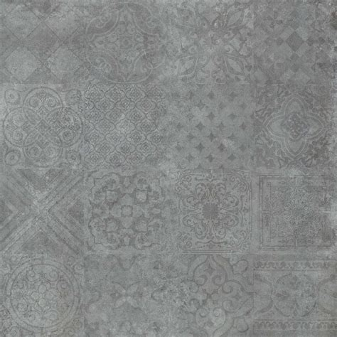 Badezimmer Fliesen Dunkelgrau by Dekorfliesen Bodenfliese Dekor Icon Dunkelgrau 60x60cm