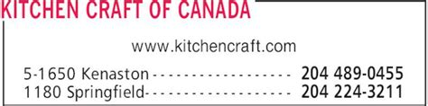 Kitchen Kraft Of Canada by Kitchen Craft Of Canada 1180 Springfield Rd Winnipeg Mb