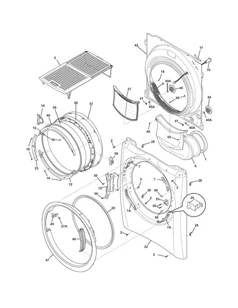 electrolux eimed60lss2 residential dryer genuine parts