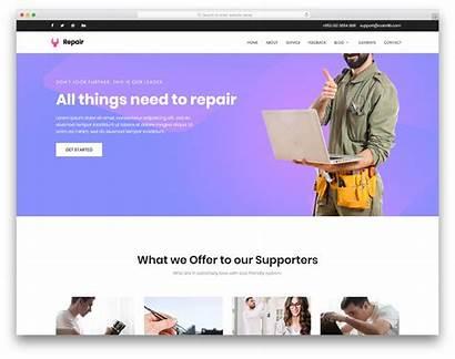 Repair Template Website Templates Builder Colorlib Industrial