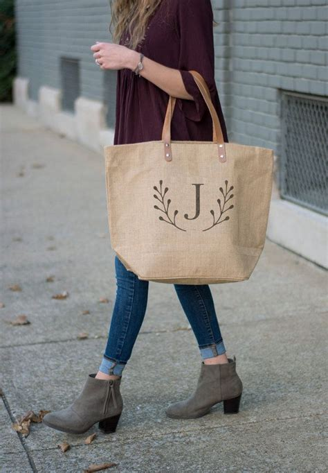 set   large bridesmaid tote bags personalized tote