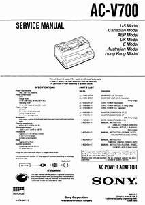 Sony Ac-v700 Service Manual