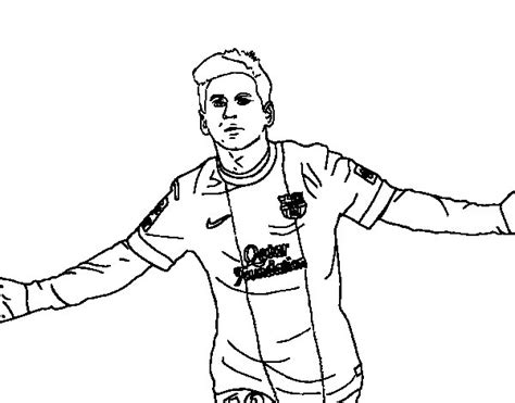 Soccer Coloring Pages Messi - Costumepartyrun