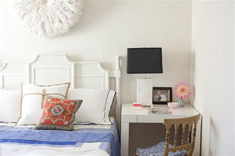 desk and bed in small room small desks for bedrooms popsugar home